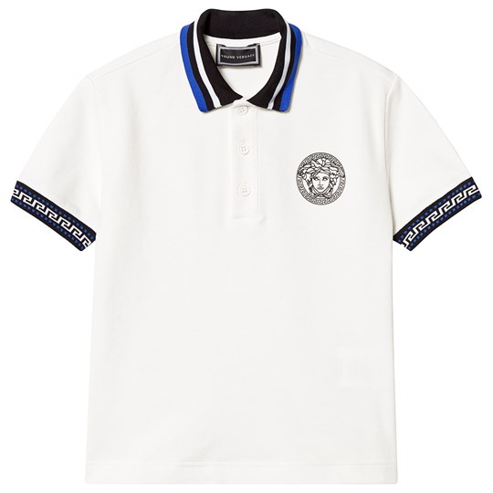 Versace White Branded Polo Y4729