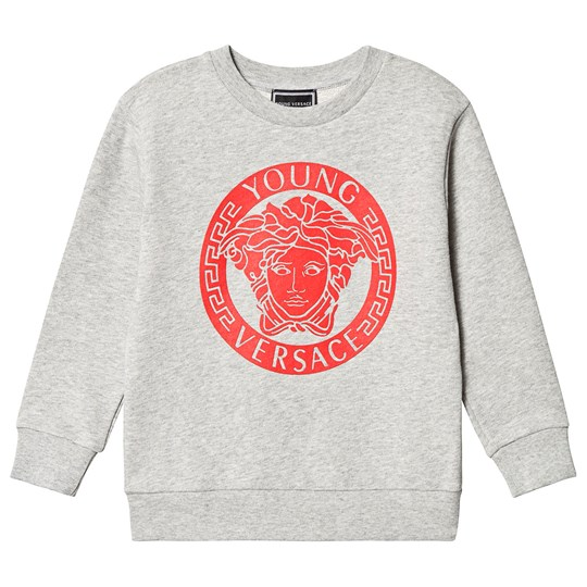 Versace Grey and Red Medusa Sweatshirt Y4661