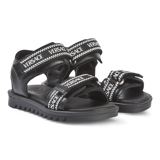 Young Versace Black Branded Sandals YS41