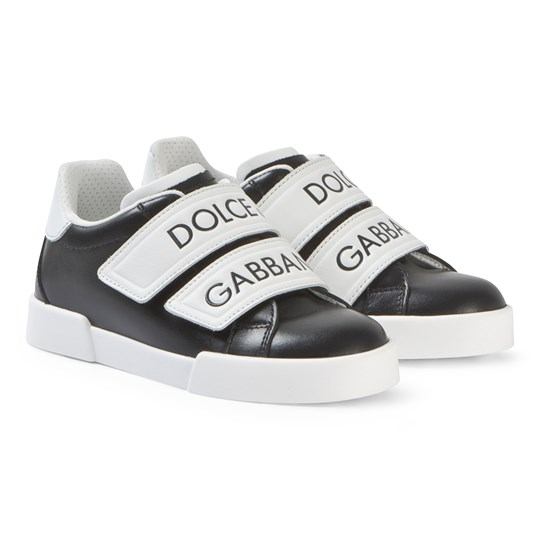 Dolce & Gabbana Black and White Label Strap Sneakers 89690