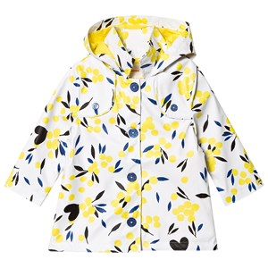Image of Catimini White and Yellow Floral Raincoat 6 years (1289423)