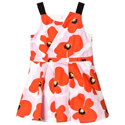 Catimini Pink and Red Poppy Sun Dress