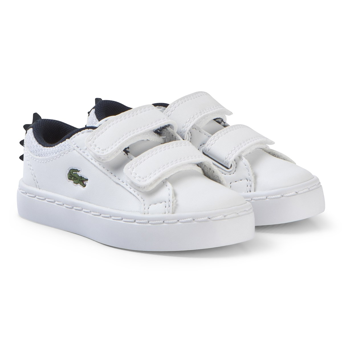2c5a9cbcb Lacoste - White with Navy Crocodile Spine Straightset 119 Velcro ...