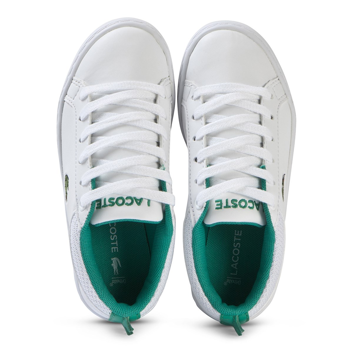 271b9b29a652 Lacoste - White with Green Crocodile Spine Straightset 119 Shoes -  Babyshop.com