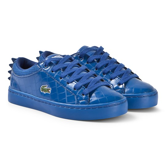 Lacoste Blue Glossy Crocodile Patterned Straightset 119 Shoes BLU/BLU