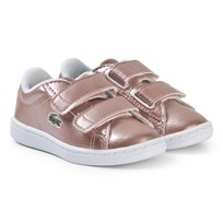 ad53c9481 Lacoste Rose Gold Carnaby Evo 119 Velcro Shoes PNK WHT