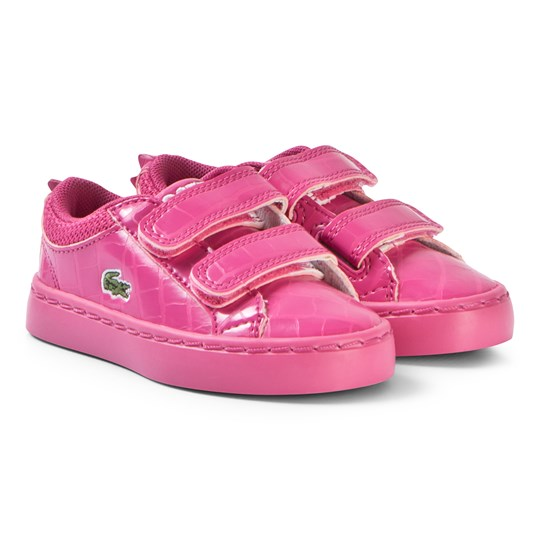 Lacoste Кроссовки Hot Pink Glossy Crocodile Patterned Straightset 119 Velcro Shoes DK PNK/DK PNK
