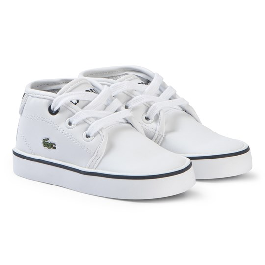 Lacoste White and Navy Ampthill 117 Shoes WHT/NVY