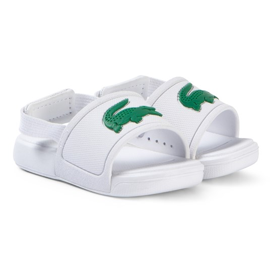 Lacoste White and Green L.30 Slide 119 Sliders WHT/GRN