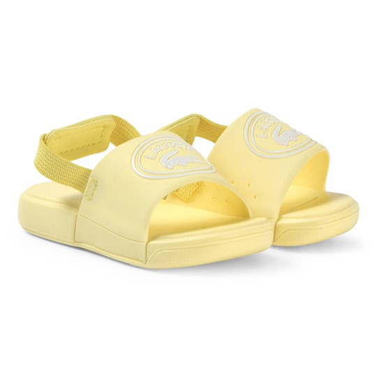 Lacoste Yellow L.30 Slide 119 Sliders LT YLW/WHT