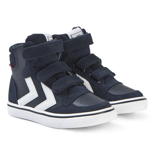 Hummel Stadil High Top Junior Sneakers Black Iris Black Iris