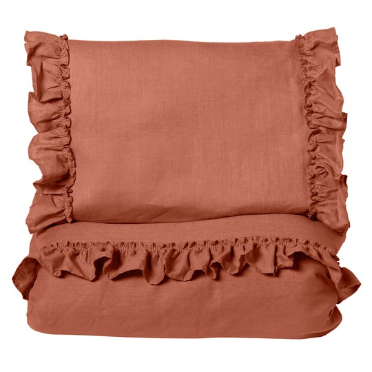 NG Baby Mood Ruffles Baby Bedding Set Terracotta Terracotta