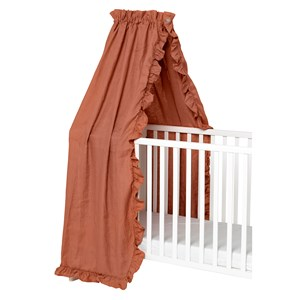 Image of NG Baby Mood Ruffles Bed Canopy Terracotta (3125235255)