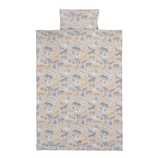ferm LIVING Safari Bedding - Junior - Grey Musta
