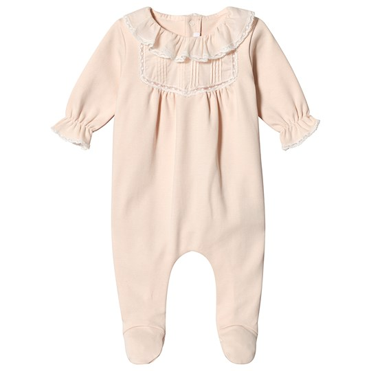 Chloé Pink Pintuck and Frill Footed Baby Body 471