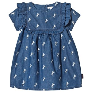 Image of Chloé Blue Denim Dress with Horse Embroidery 12 months (3125260807)