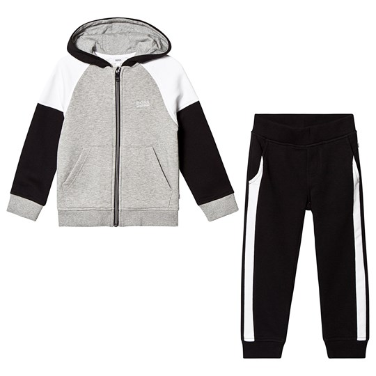 BOSS Black and Grey Branded Tracksuit M60
