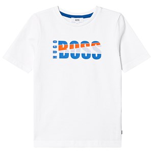Image of BOSS White Branded Tee 12 years (3125257911)