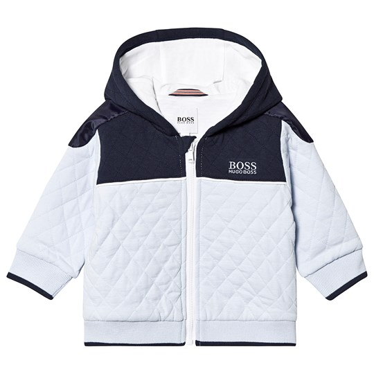 BOSS Pale Blue Quilted Jacket V48