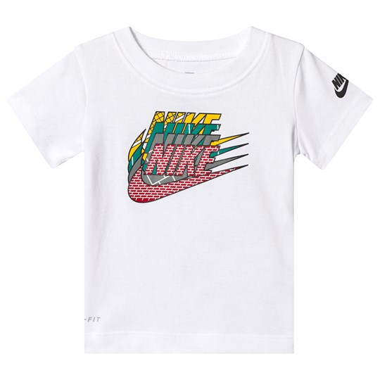 NIKE White Branded Dri-Fit Tee 001