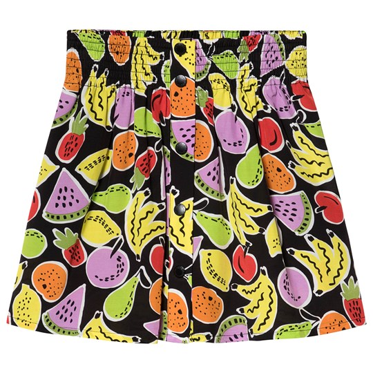 Stella McCartney Kids Black Fruit All Over Print Skirt 1090 - Bigger Fruit Aop Bla