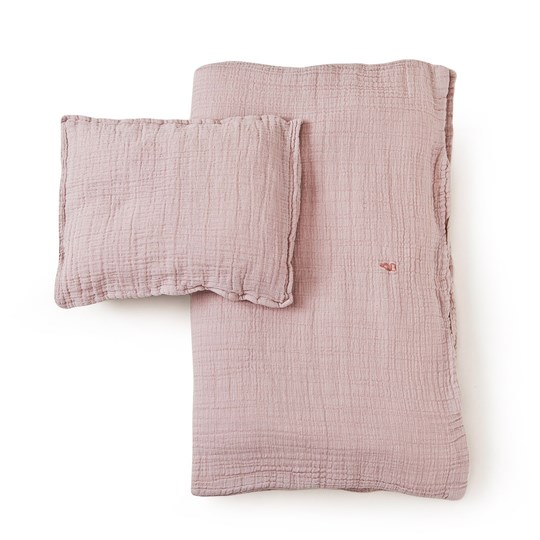 garbo&friends Calamine Muslin Baby Bed Set Soft Pink