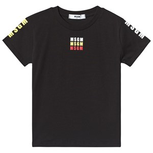 Image of MSGM Black with Multi MSGM Logo Tee 10 years (3125253631)