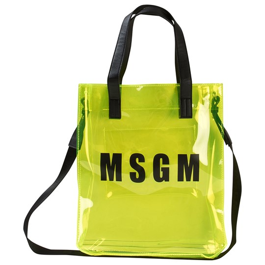 MSGM Yellow Transparent Logo Bag 023