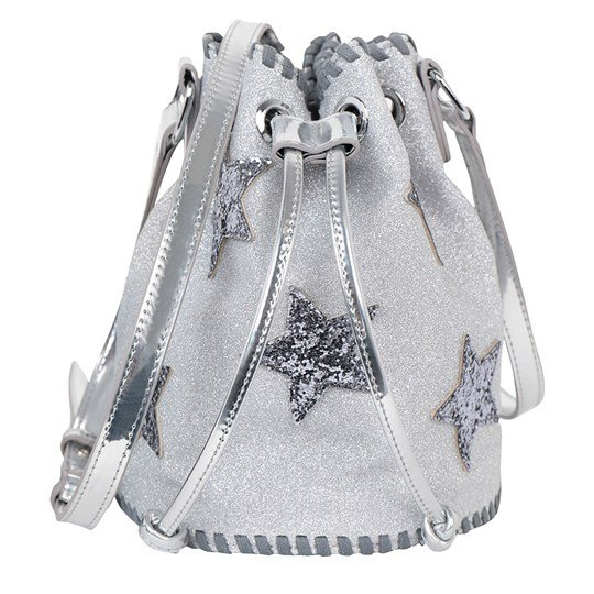 Stella McCartney Kids Silver Glitter Bucket Bag 1166 - Storm Grey