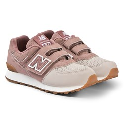 New Balance Dusty Pink Velcro Sneakers