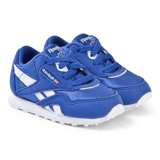 Reebok Cobalt Blue Classic Nylon Infant Sneakers CRUSHED COBALT/WHITE