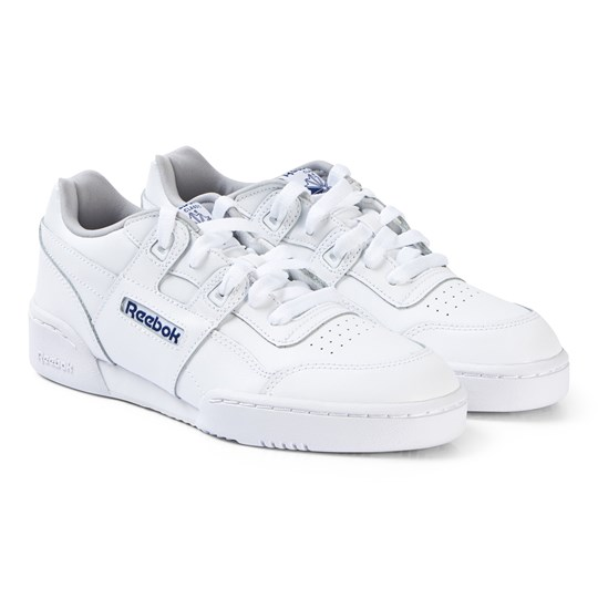 Reebok White Workout Plus Junior Sneakers WHITE/STEEL/ROYAL