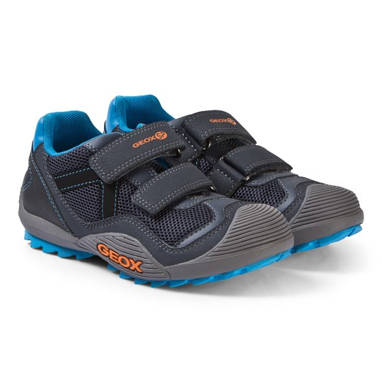 Geox Navy and Orange Atreus Trainers C0659