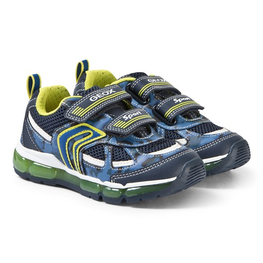 Geox Navy and Lime Android Sneakers C0749