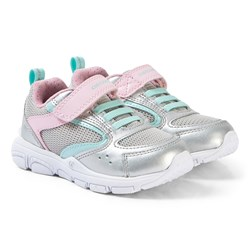Geox Silver and Pink Torque Sneakers