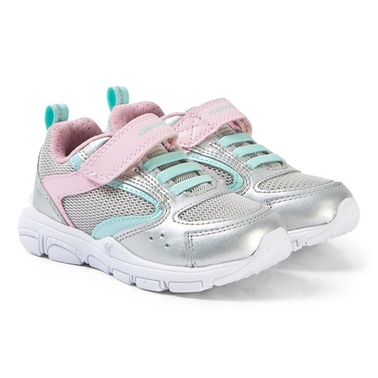 Geox Silver and Pink Torque Sneakers C0566
