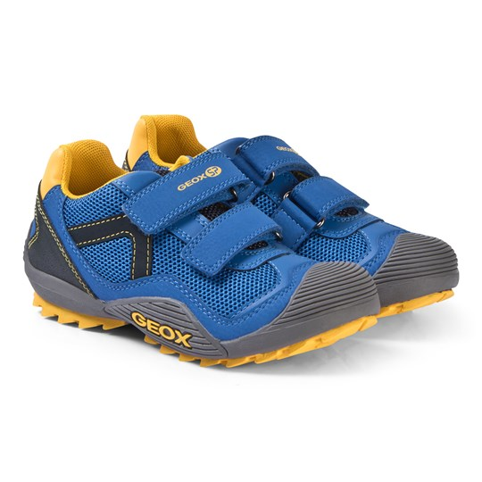 Geox Royal and Yellow Atreus Sneakers C0797