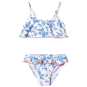 Image of Snapper Rock Blue Floral Frill Bikini 10 years (3144405231)