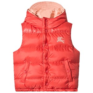 Image of Burberry Coral Pink Blue Reversible Gilet 3 years (3125260157)