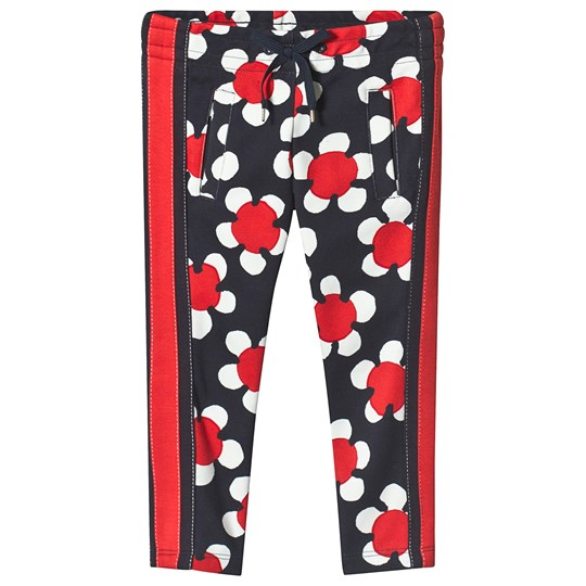 Little Marc Jacobs Daisy Allover Print Track Pants Marinblå/Röd A43