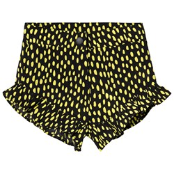 Stella McCartney Kids Svarte og Gule Prikker Shorts