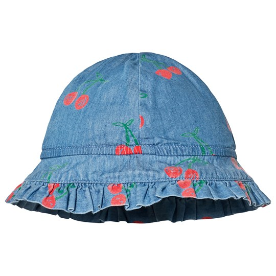 Stella McCartney Kids Blue Cherry Hat 4262 - Cherry Aop On Chambr
