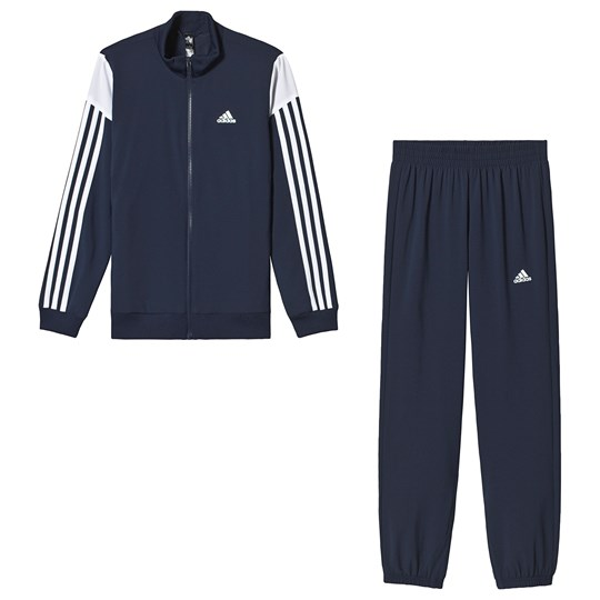 adidas Performance Navy and White Tracksuit Top:COLLEGIATE NAVY/WHITE Bottom:COLLEGIATE NAVY/W