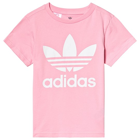 adidas Originals Light Pink Trefoil Logo Tee Light Pink/White