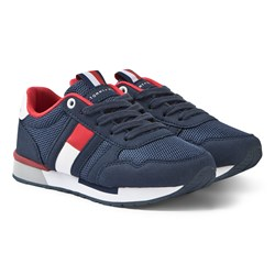 Tommy Hilfiger Navy, Red and White Branded Sneakers