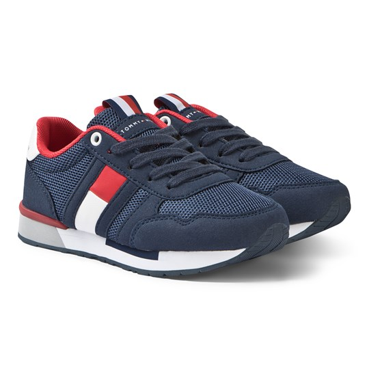 Tommy Hilfiger Navy, Red and White Branded Sneakers 800