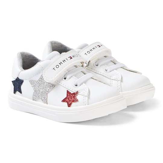 Tommy Hilfiger White Glitter Star Sneakers X256