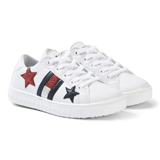 Tommy Hilfiger White Star and Flag Sneakers X256