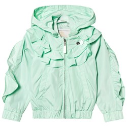 Le Chic Mint Ruffle Coat