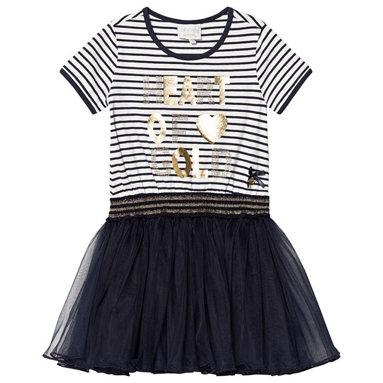 Le Chic Navy and White Stripe Tulle Dress 190